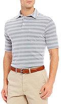 Daniel Cremieux Big & Tall Club 38 Stripe Performance Pique Short-Sleeve Polo Shirt