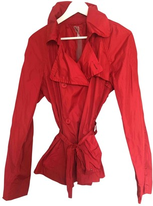 ADD Red Trench Coat for Women