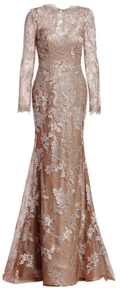 Rene Ruiz Collection Embellished Sleeve Gown