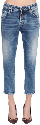 DSQUARED2 Cool Girl Crop Straight Leg Denim Jeans
