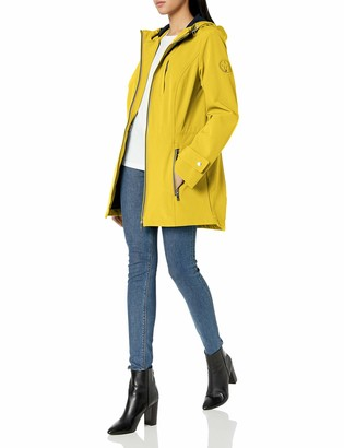 Tommy Hilfiger Women's Iconic Sporty Hooded Soft Shell Rain Jacket