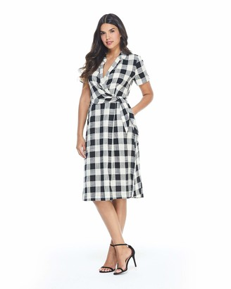 Maggy London Women's Printed Wrap Shirt Dress