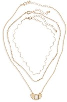 BP Women's Set Of 3 Wave Necklaces