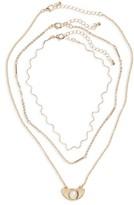 BP Women's Set Of 3 Wave Necklaces