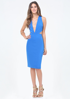 Bebe Petite Cutout Plunge Dress