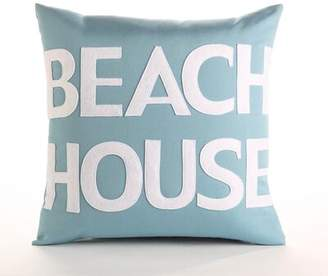 Alexandra Ferguson Beach House Outdoor Throw Pillow Color: Pool Blue / White