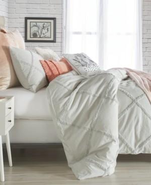 Peri Home Chenille Lattice King Duvet Cover Bedding