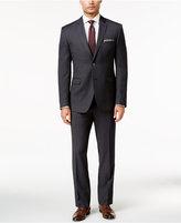 Perry Ellis Portfolio Charcoal Textured Pindot Slim-Fit Suit