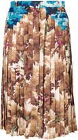 Marco De Vincenzo foliage print pleated skirt