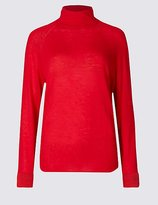 M&S Collection Wool Rich Funnel Neck Jumper