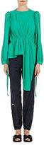 Balenciaga Women's Reverse-Seam Silk Crepe Blouse