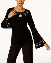 INC International Concepts Anna Sui Loves Embellished Sweater, Created for Macy's