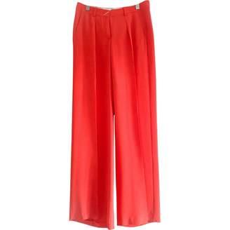 Sportmax \N Orange Silk Trousers for Women