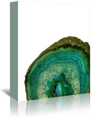 "Americanflat Malachit Green Agate Gem Treasure Luxury, 11""H x 14""W x 1""D"