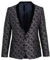 Dolce & Gabbana Velvet-lapel jacquard blazer