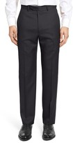 Santorelli Men's Flat Front Twill Wool Trousers