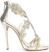 Oscar de la Renta floral embroidery sandals - women - Leather/Other fibres - 37.5