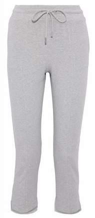 Cushnie et Ochs Amaris Cropped Mélange Fleece Track Pants