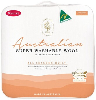 Tontine Homestead Australian Super Washable Wool All Seasons Quilt White