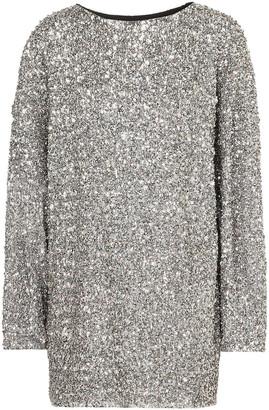 Isabel Marant Xana Oversized Embellished Crepe Mini Dress