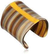 Vince Camuto Horn and Minimal Hue Brown Horn/Orange Cuff Bracelet