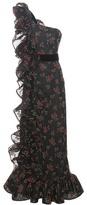 Gucci Appliqué one-shoulder tulle dress