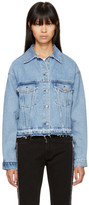 MSGM Blue Denim Logo Tape Jacket