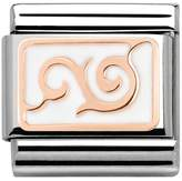 Nomination Couture Rose Gold White Enamel Curl Classic Charm 430201/15