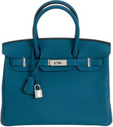 One Kings Lane Vintage Hermès 30cm Blue Togo Birkin Bag
