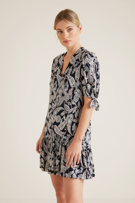 Seed Heritage Paisley V-Neck Dress