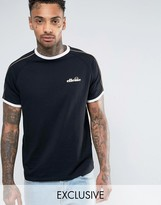 Ellesse T-Shirt With Gold Piping