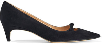 Sergio Rossi Isobel 45 Cutout Knotted Suede Pumps