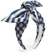 Benoit Missolin Laureto graphic-print cotton headband