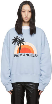 Palm Angels Blue Sunset Sweatshirt
