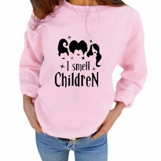 Topassion Blouse Topassion Women's Casual Long Sleeve Crewneck Neck Sweatshirt Solid Color Pullover Ladies Letter Print Sweatshirt Loose Pullover Shirt Bees Print Soild Color Winter Top
