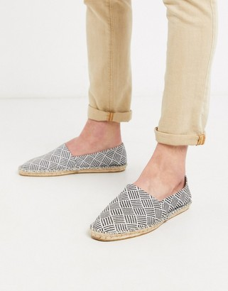 ASOS DESIGN espadrilles with black and white pattern