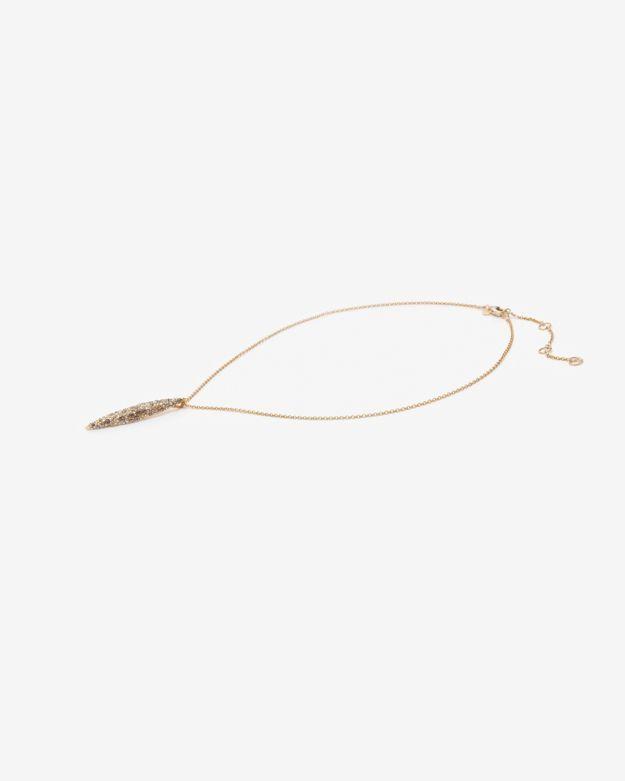 Alexis Bittar Crystal Encrusted Short Spear Necklace