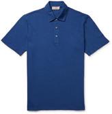 Canali Slim-Fit Stretch-Cotton Piqué Polo Shirt