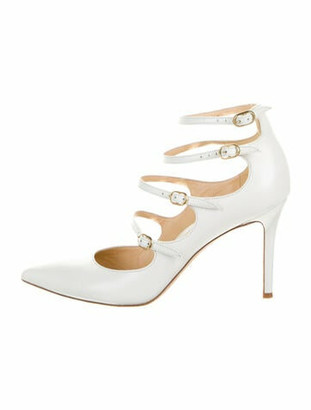 Marion Parke Leather Pumps White