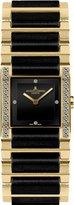 Jacques Lemans Women's G-210G Gloria Classic Analog Sapphire Glass and HighTech Ceramic and Genuine Diamonds Watch
