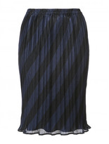 Alexander Wang high waisted pleated striped skirt