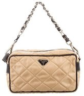 Prada Quilted Tessuto Mini Handle Bag