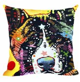 """CafeTime Akita Series Pillow Covers Art Pet Dog Throw Pillow Case Customize Gift Decorative Canvas Pillowcases For Car Sofa Seat 18""""x18""""Inch"""