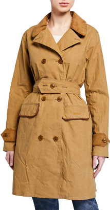 Barbour Haydon Double-Breasted Cotton Trench Coat
