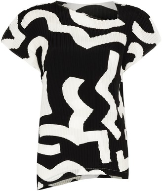 Issey Miyake Contrast-Detail Textured Top