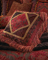 """Isabella Collection 20""""Sq. Pillow with Diamond Center"""