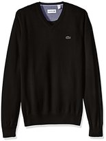 Lacoste Men's Seg 1 Cotton Jersey V-Neck Sweater