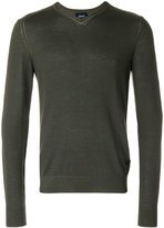 Armani Jeans V-neck jumper - men - Viscose/Wool - M