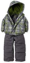 Weatherproof Infant Boys) Two-Piece Plaid Snowsuit