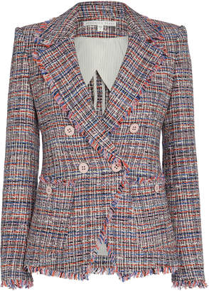 Veronica Beard Theron Double-Breasted Tweed Blazer